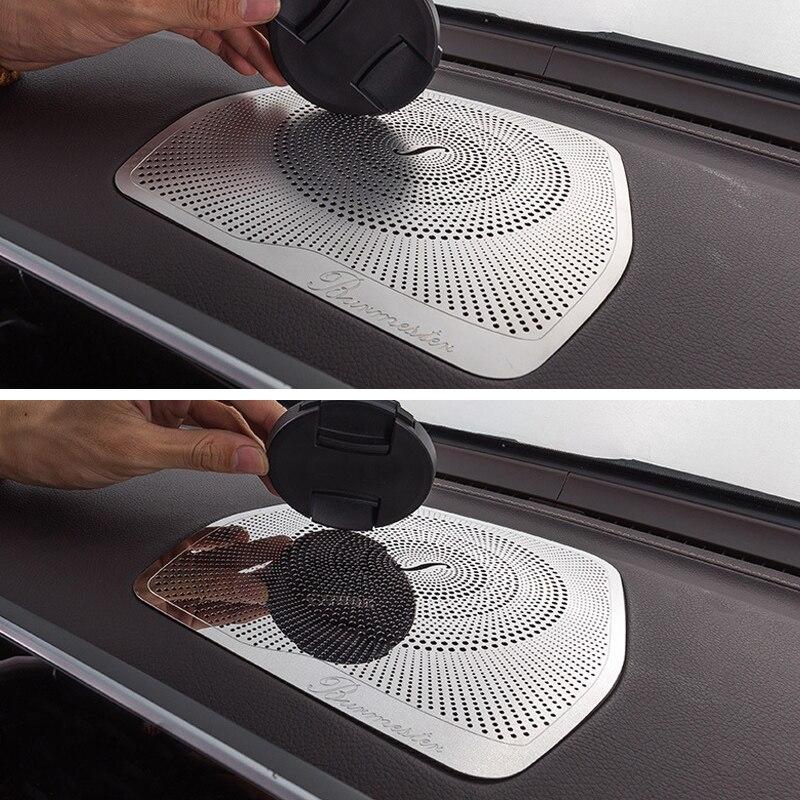 Painel capa altifalante adesivos guarnição acessórios lhd para mercedes benz w205 glc c classe c180 c200 estilo do carro alto-falante de áudio