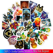 50 sztuk nowy legenda Zelda gra naklejki zestawy Anime naklejki dużo na laptopa rower telefon Guitarl Cartoon pakiet naklejek