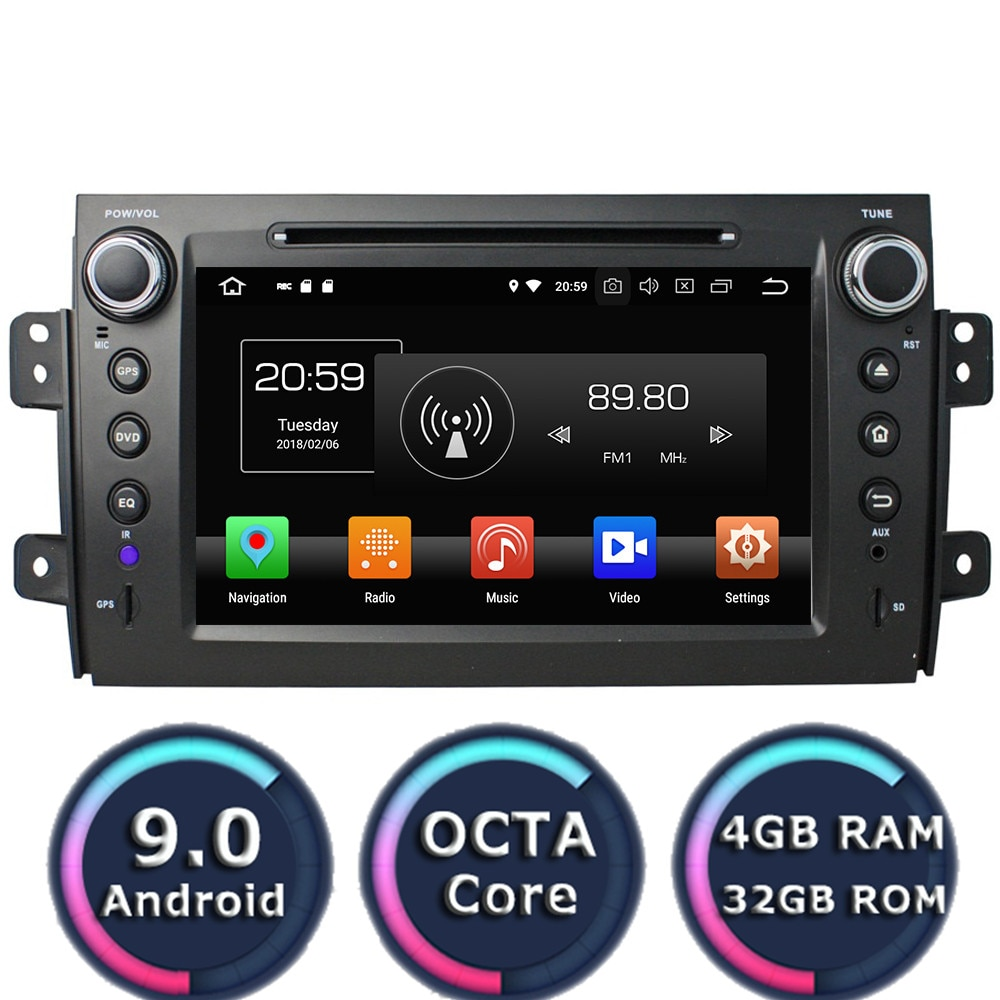 Roadlover Android 9.0 Car Multimedia DVD Player Radio For Suzuki SX4 2006-2012 Stereo GPS Navigation Automagnitol 2Din Octa Core