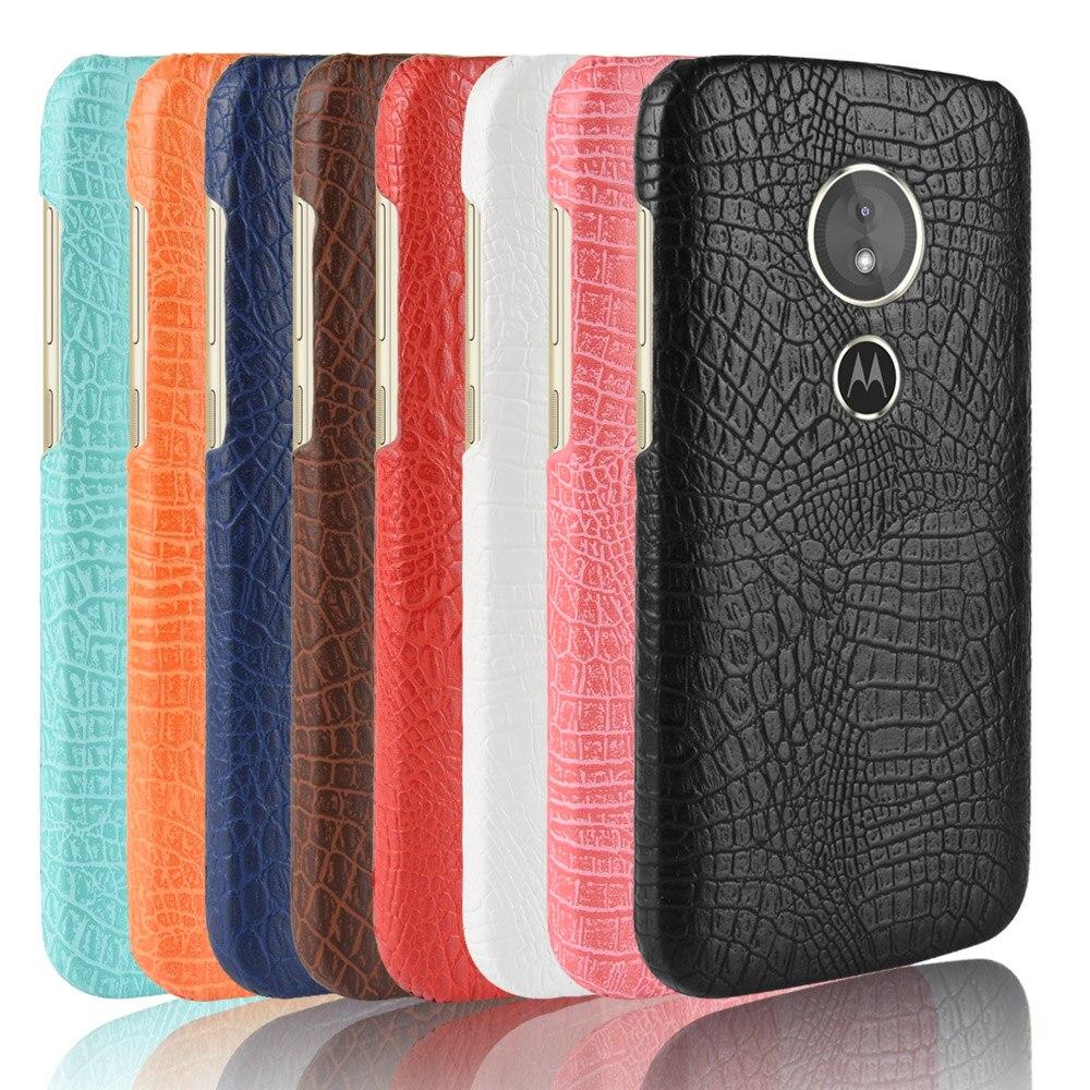 Nuevo para Motorola Moto G6 jugar 5,7 pulgadas caso Retro de la PU de lujo de piel de cocodrilo duro funda para Motorola Moto G6 jugar al teléfono bolsa caso