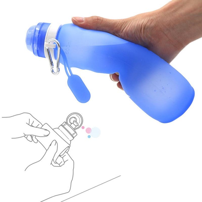 Homadise, 600ml, tazas plegables de silicona, botellas de agua portátiles para exteriores, hervidor deportivo de alta capacidad para bicicletas de campo traviesa