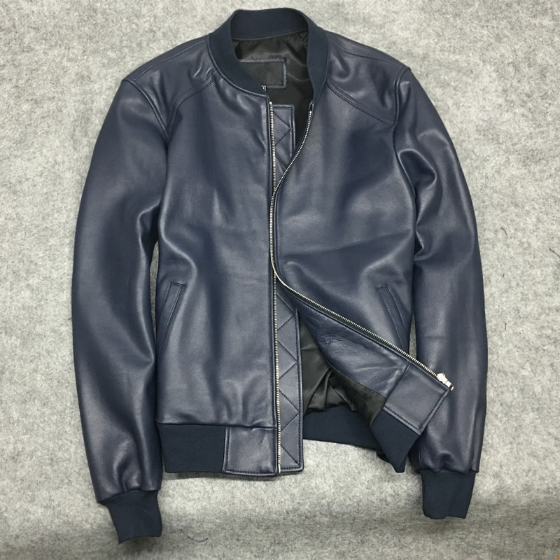 Мужская/Женская обувь высокого качества из овечьей кожи бомберы шик натуральная кожа куртки пальто S-3XL Размер G110
