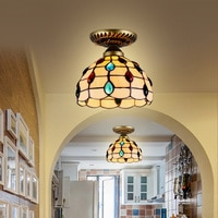 Simple European style bedroom ceiling lamp garden balcony lamp antique aisle porch corridor lamp shell lamp