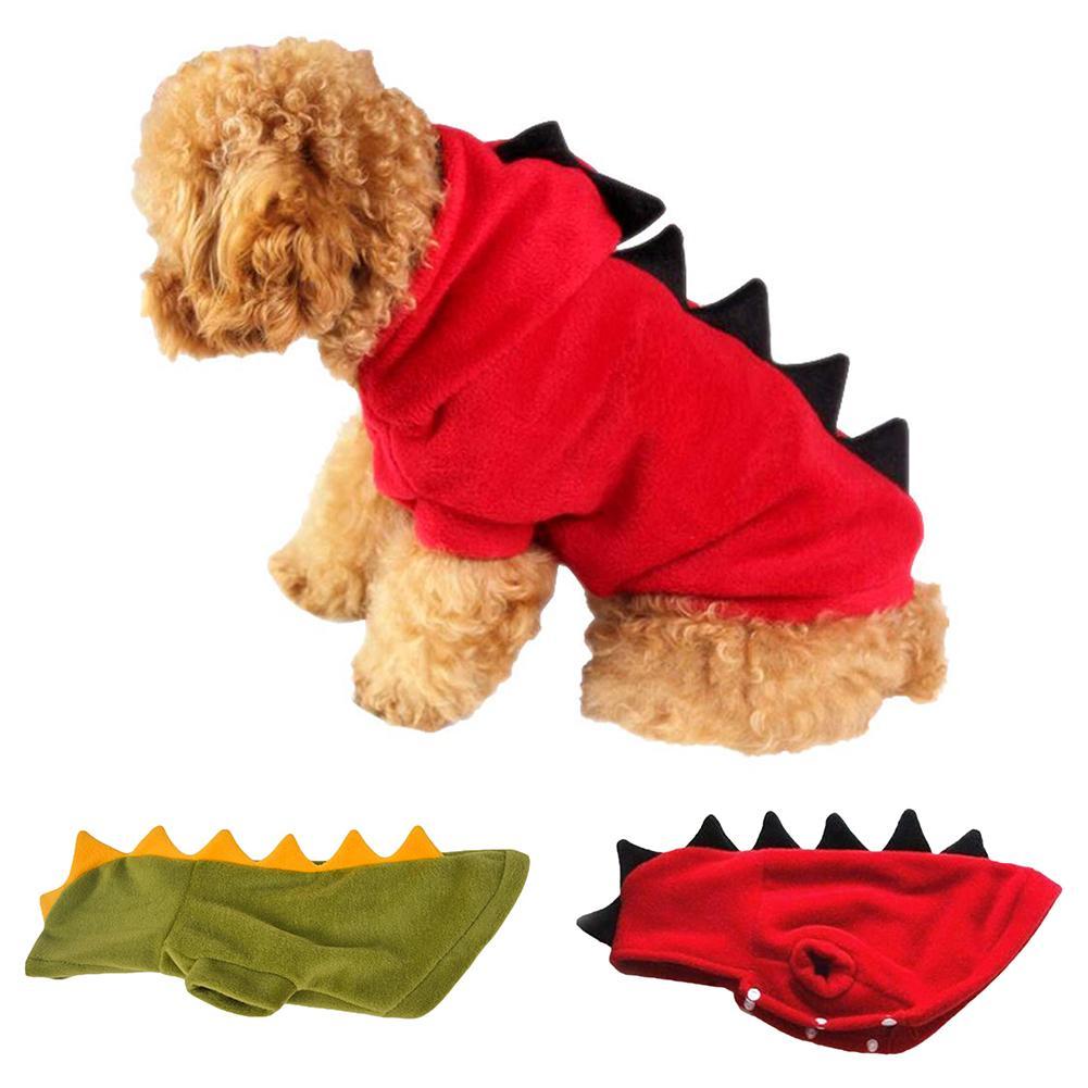 Halloween mascota perro disfraz Sudadera con capucha abrigo dinosaurio mono ropa chaqueta cálida