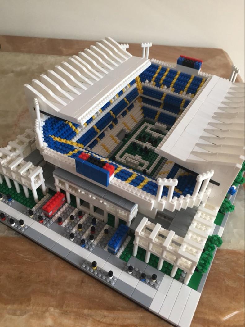 Mini Architecture World Cup Spain Maraca Football Stadium City Model Building Blocks Sets Bricks Classic Kids Toys for children