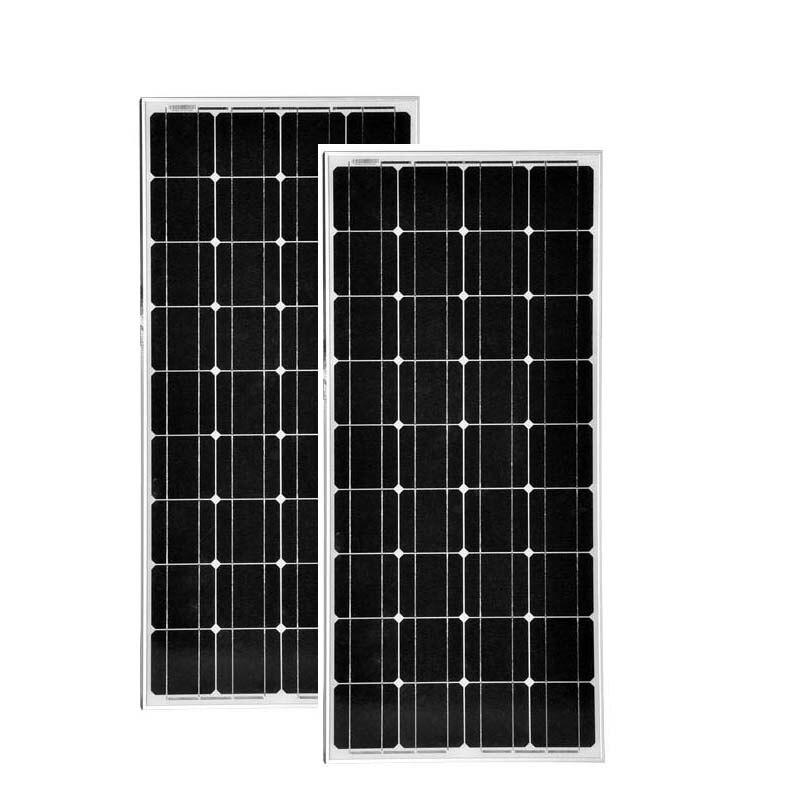Paneles solares para el hogar de 12 v, 100 w, 2 uds. De Panneau Solaire, 24 v, 200 w, Cargador de batería Solar, coche de autocaravana, Camping, LED