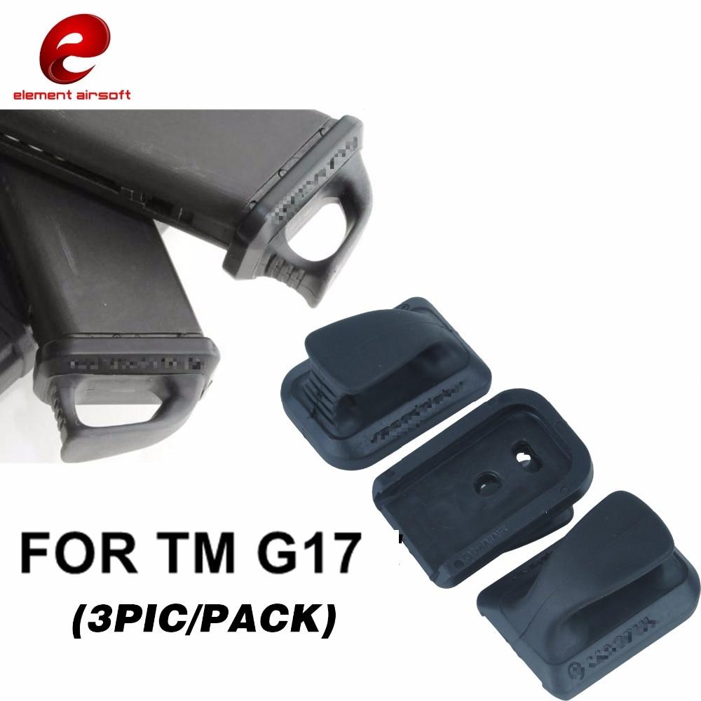 Placa de velocidad Element Airsoft para TM G17 3 unids/pack, Sin LOGO, accesorios Airsoft PA0208