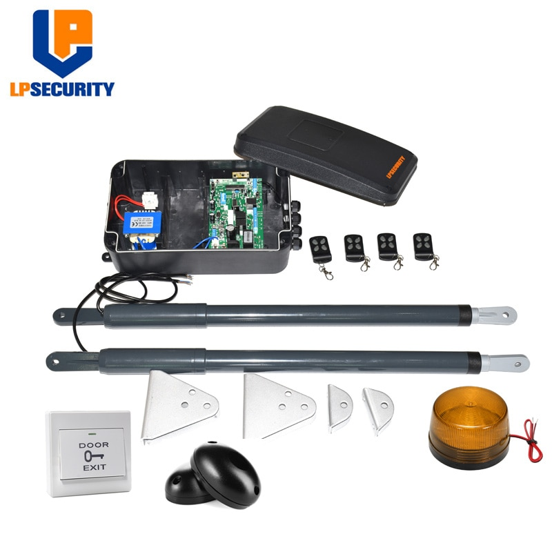 LPSECURITY-جهاز فتح باب التأرجح الأوتوماتيكي DC12V AC220V ، مشغل خطي ، ترس دودي ، خلايا ضوئية ، مصباح ، زر ، gsm ، لوحة مفاتيح اختيارية)