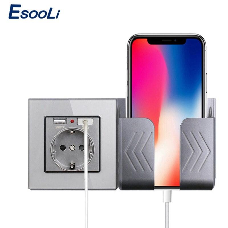 Esooli cristal 2A Dual Puerto USB adaptador/cargador de pared enchufe con usb adaptador de pared EU enchufe toma de corriente