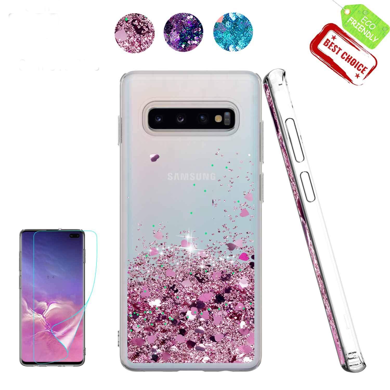 Brillo líquido dinámico funda para Samsung Galaxy S10E S10 E Cubierta fundas de silicona para Samsung Galaxy S10 más S10 + S10E S9 caso