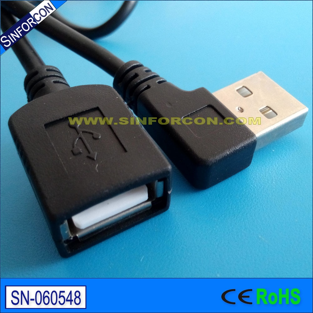 Cable de extensión en ángulo usb, cable de extensión usb en forma...