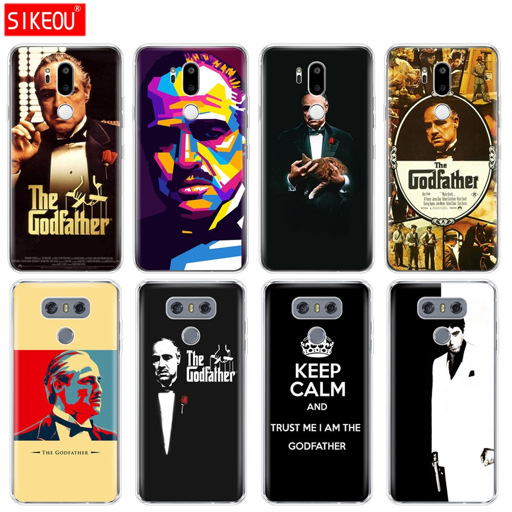 Funda de silicona para teléfono LG G7 Q8 Q6 G6 MINI G5 V30 V7 V9 k10 k8 X POWER 2 godfather god padre