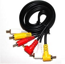 Vidéo daffichage dordinateur, machine vidéo, ligne de signal av, connexion rouge-jaune-blanc