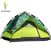 flytop double layer camping tent gazebo outdoor 3 4 person automatic tents winter 4 season fishing family party tourist tent