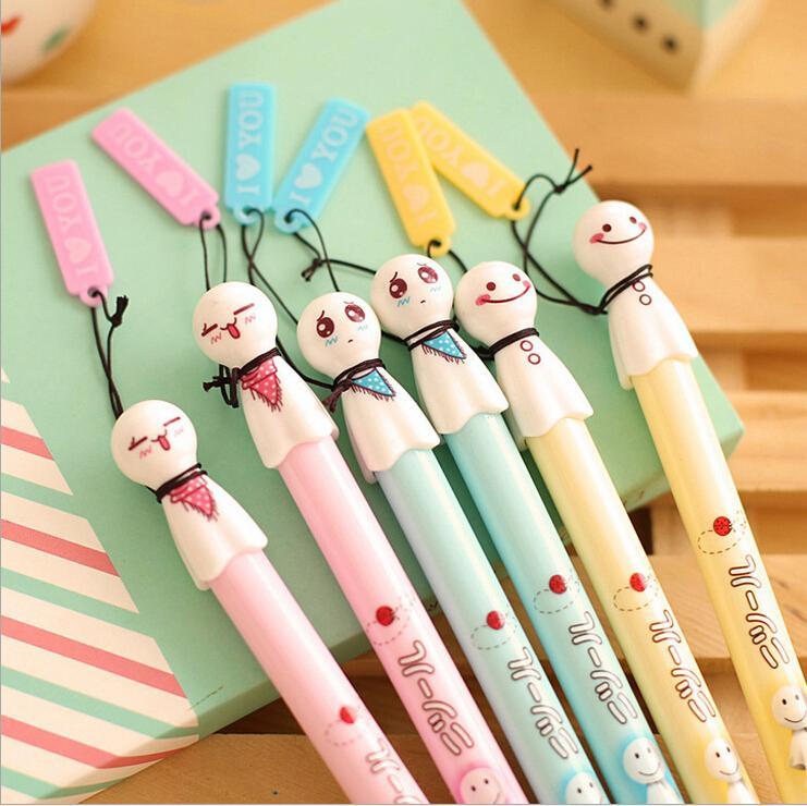 1 Piece Lytwtws Stationery Cartoon Sunny Doll Gel Pen Creative School Office Kawaii Supply Handles Cute Gift sweet lovely
