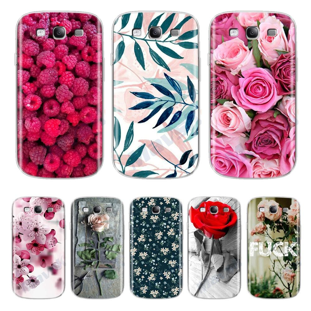 Atractiva nueva caja del teléfono de la moda para Samsung S3 GT-I9300 Neo i9301 Duos i9300i mujeres flor pintura caso de la cubierta de la Capa