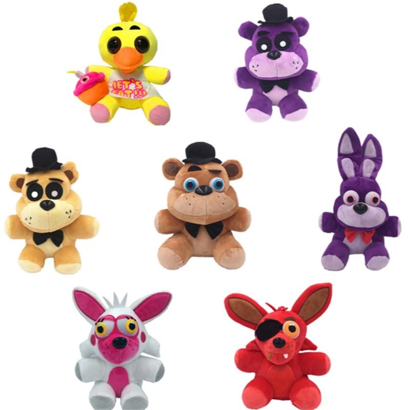 1 шт., 18 см, Five Nights At Freddys FNAF, Freddy Fazbear, Bonnie Chica, Фокси плюшевая кукла, мягкие игрушки с животными, детские игрушки в подарок