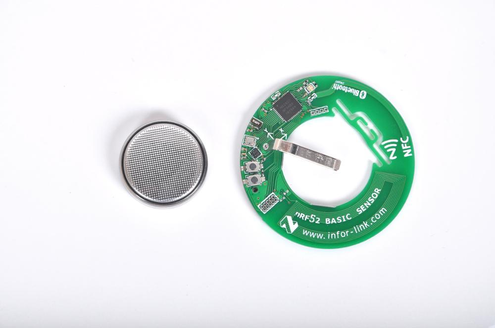 ¡Nuevo producto! Sensor de aceleración inalámbrico Bluetooth NRF52832, sensor de entorno BME280