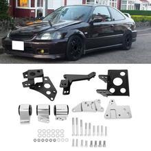 Kit de soporte de motor adecuado para chasis Honda EK k-swap Civic 1996 1997 1998 1999 2000 soporte de motor aleación de aluminio