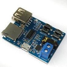 TF Card U Disk MP3 Format Decoder Board Mirco USB Port Amplifier Decoding Audio Player Module 3.7-5.5V