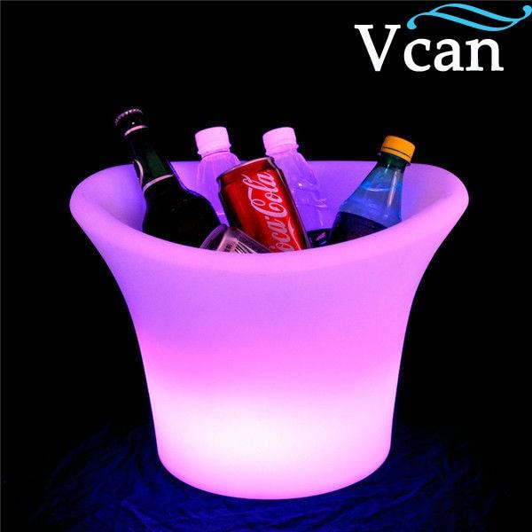 Luz LED iluminada brillante soportes de vino cubo de hielo VC-I3627