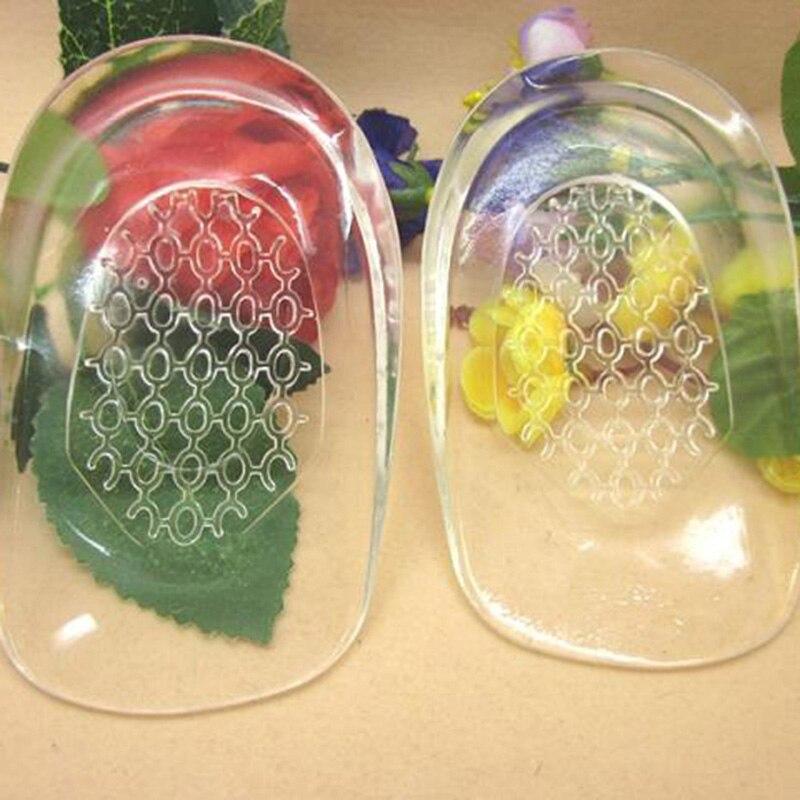 1 par de plantillas de tacón zapatos de masaje almohadilla de gel de silicona insertos almohadillas zapatos masajeadores mujer al por mayor