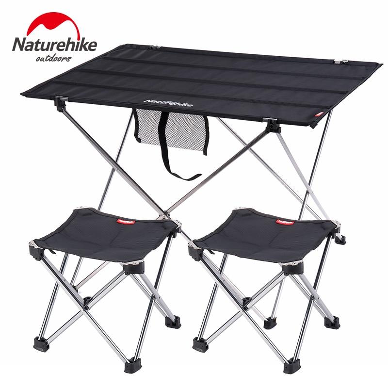Mesa de Camping Naturehike plegable, Rollo portátil, mesa de pesca plegable para...
