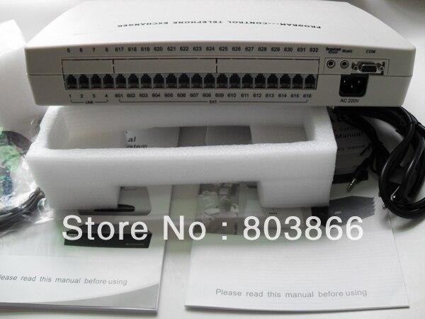 الشحن المجاني (مصنع فينيتليكوم العرض مباشرة) CP416 الهاتف pbx/pabx مع 4 خطوط x 16 ملحقات