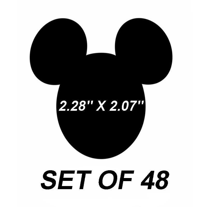 Calcomanías de vinilo adhesivo de Mickey Mouse, etiquetas de pizarra, adhesivo de papelería autoadhesivo, decoración personalizada DIY para niños, profesor de fantasía