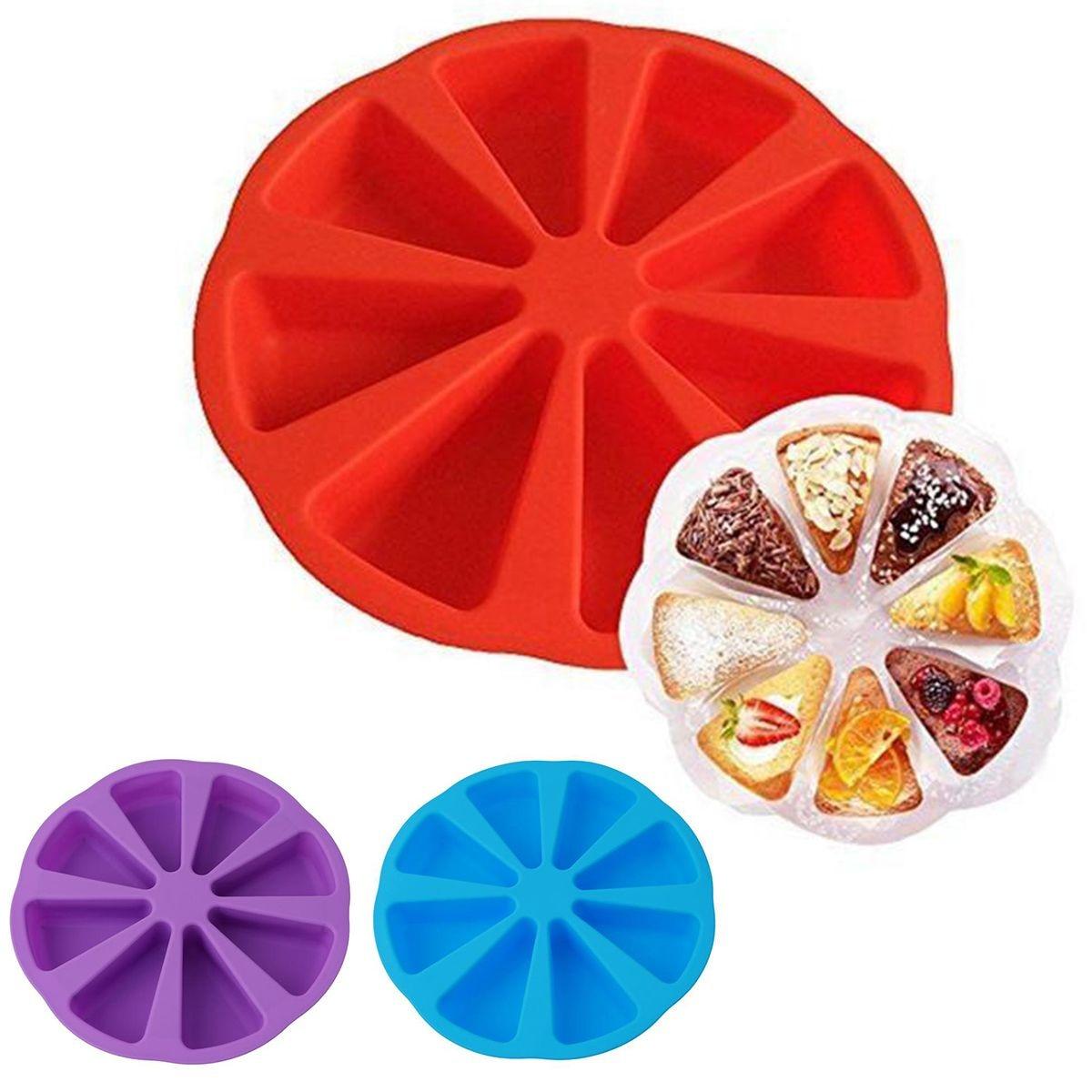 1 ud. Molde de silicona con 8 cavidades para tartas