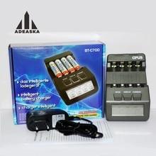 Original OPUS BT-C700 NiCd NiMh LCD numérique Intelligent AAA 16340 RCR123 14500 AA 4 emplacements chargeur de batterie EU US adaptateur VS OPUS