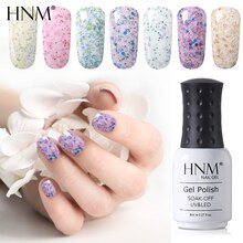 HNM 8ML Milk Granule Nail Gel Soak Off Semi Perment Stamping Enamel Nail Gel Polish UV LED Hybrid Gel Varnish Lucky Lacquer Ink