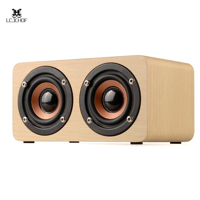 Altavoz Bluetooth de madera retro caliente Hifi altavoz inalámbrico Dual altavoz envolvente 3d
