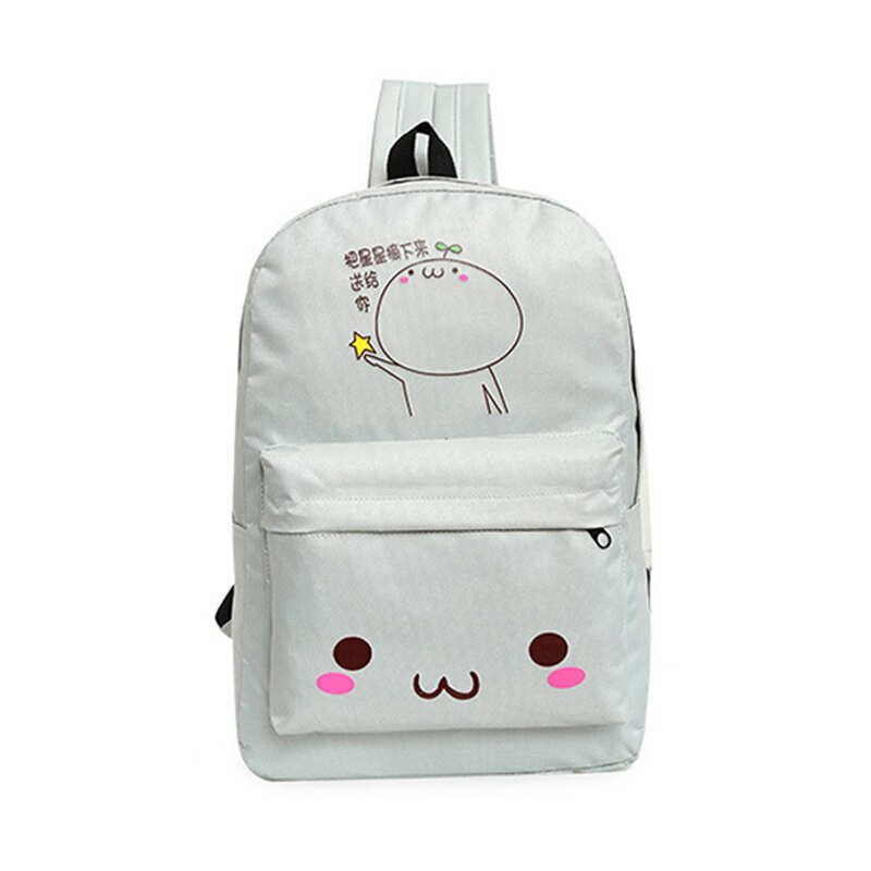 Mochila de viaje coreana para mujer con estuche de nailon con estampado de dibujos animados, bolsos de hombro para mujer, mochila escolar para estudiante para chicas, FA $1