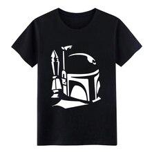 Casco de Boba Fett, camiseta personalizada, cuello redondo, Original, interesante, auténtica camiseta de novedad de primavera