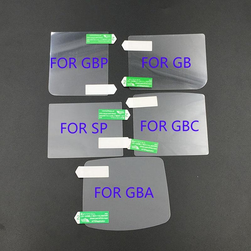 Protector de pantalla LCD de 50 piezas película protectora para Gameboy Color para GBA SP GBC GB consola de juego
