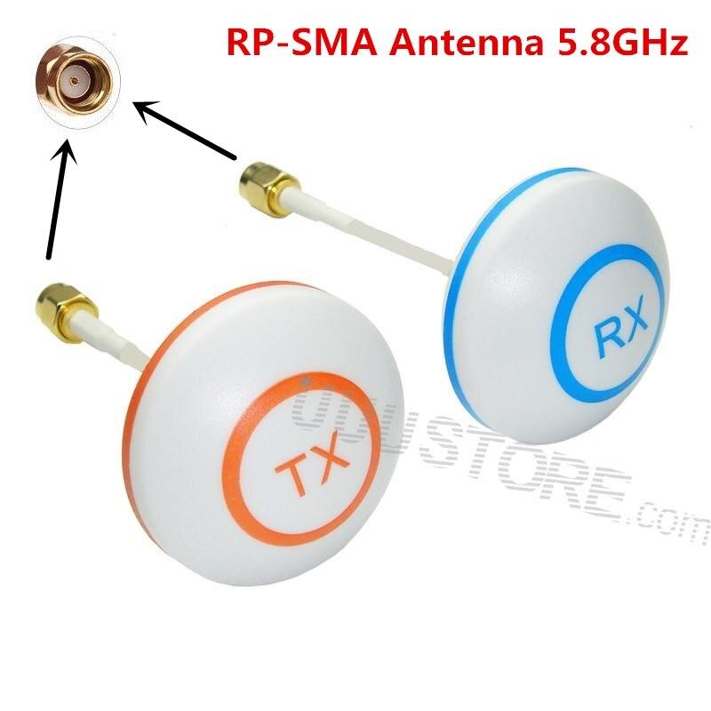 FPV 5,8 GHz omnidireccional antena trébol hoja seta conjunto aéreo con enchufe de RP-SMA para Sistema FPV