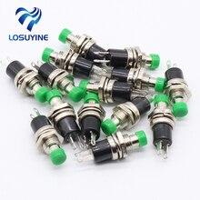 IMC Hot-bouton-poussoir vert SPST   Mini interrupteur à bouton-poussoir momentané 50V 0,3a DC 10 pièces