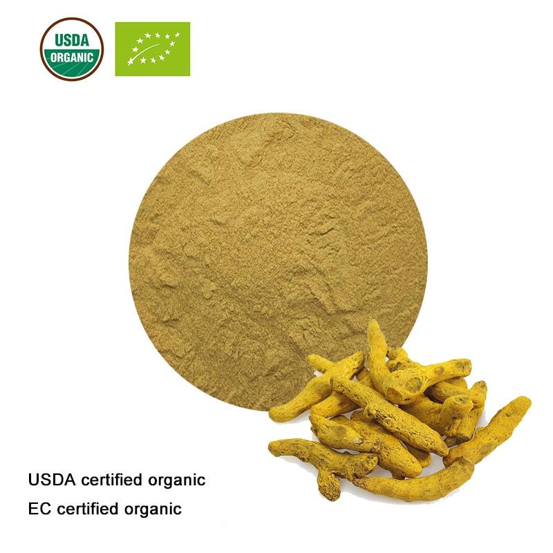 USDA and EC Certified Organic Turmeric Root Extract  10:1 Turmeric Extract   Curcumin