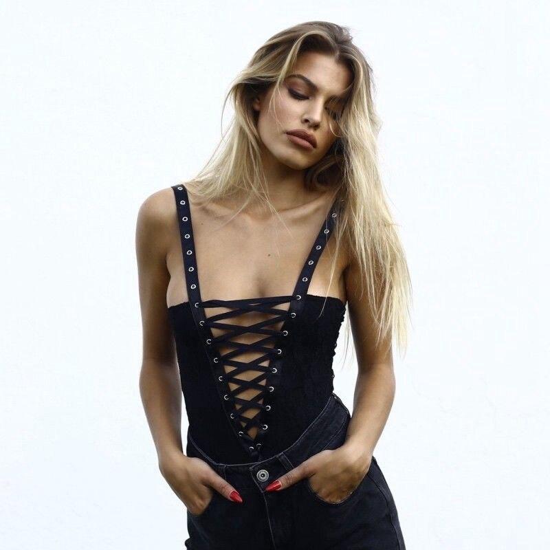 Sexy mujeres señoras encaje vendaje ajustado Bodysuit fiesta Romper estiramiento leotardo Tops
