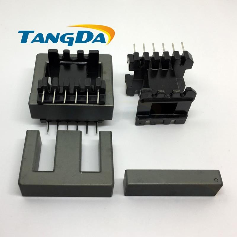 Tangda EI40 Bobbin мягкий ферритовый сердечник + каркас трансформатора EI Bobbin высокочастотная мощность 6 + 6P 12pin PC40 ertical шитье A.