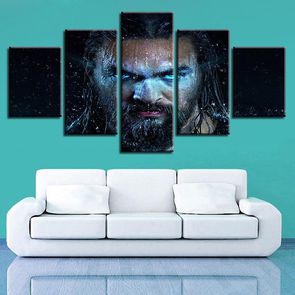 Película dios de la guerra ascensión Aquaman arte de la pared pinturas de la mitología griega Fotos decoración del hogar impresiones de alta definición carteles abstractos