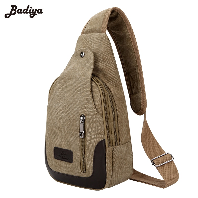 Patchwork Men's Chest Bag Zipper Design Crossbody Shoulder Bags For Men Multifunction Chest Pack Casual Travel Cross Body Flap