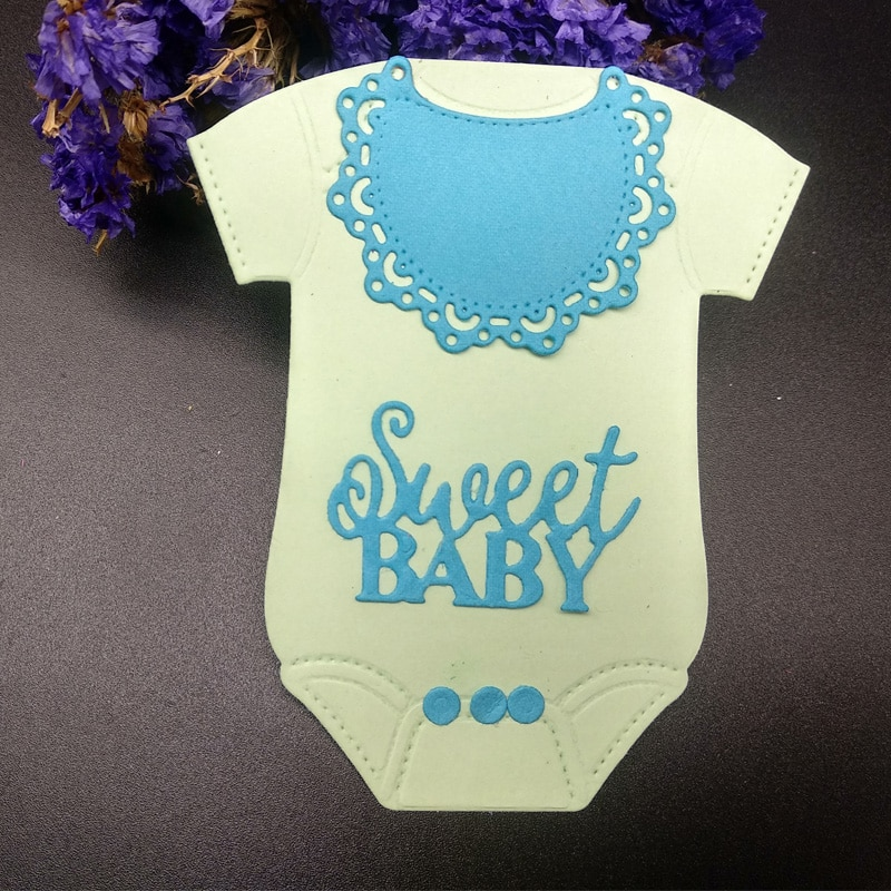 Corte de dados novo 2019 bebê onesie vestido scrapbooking metal dados carimbos estêncil gravação cortar papel álbum de fotos cartão fazendo