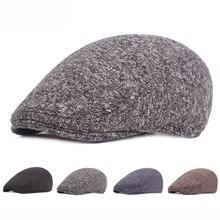 HT2052 automne hiver chapeau pour hommes chaud épais béret casquette aîné homme Ivy Cabbie casquette gavroche mâle coton pilote casquette plate pour hommes béret