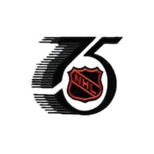 Hockey National ligue NHL 75th anniversaire   Manches de maillot, Logo de fer sur le Patch