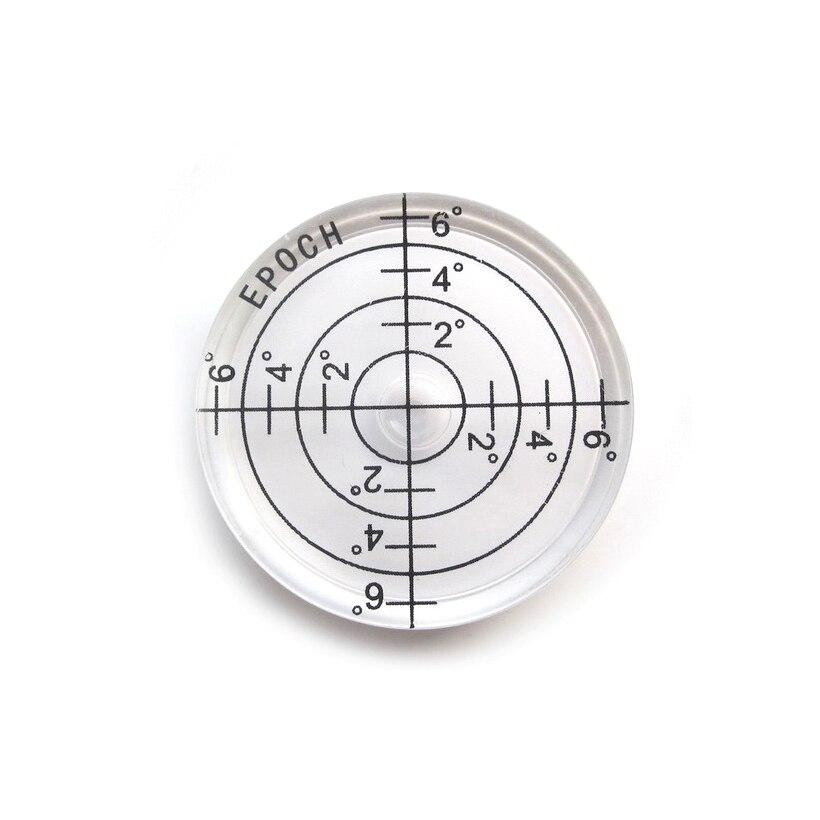 Nivelador de superficie de nivel de burbuja de nivel de Bullseye de 32mm, 2 fotos para trípodes de cámara, básculas de pesaje, brújula de construcción