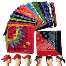 Crâne rouge 100% coton 55CM * 55CM   Bandana Paisley et crâne rouge noir et blanc pour hommes, garçons, femmes et filles, nouvelle collection