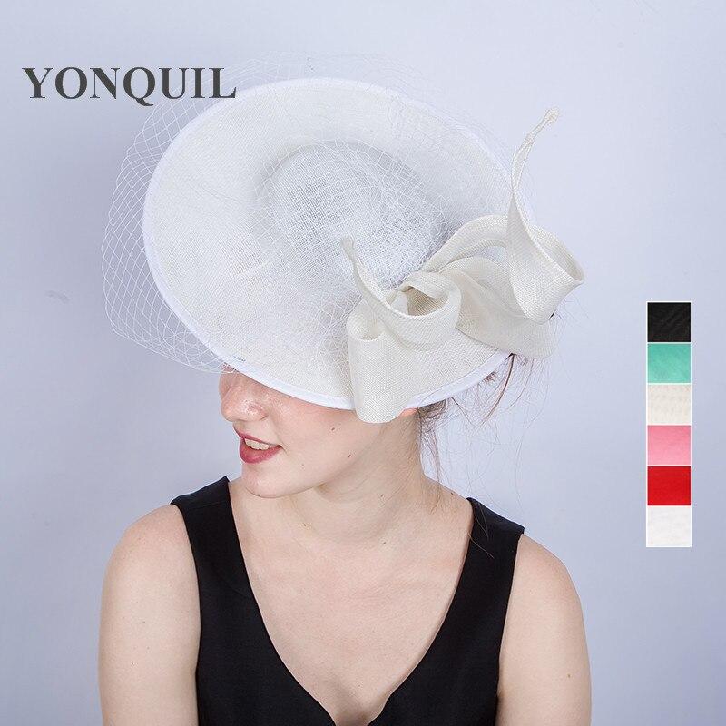 فستان سهرة نسائي أنيق ، قبعات كبيرة 30 سنتيمتر مع فيونكة شعر ، قبعات كوكتيل ، SYF217