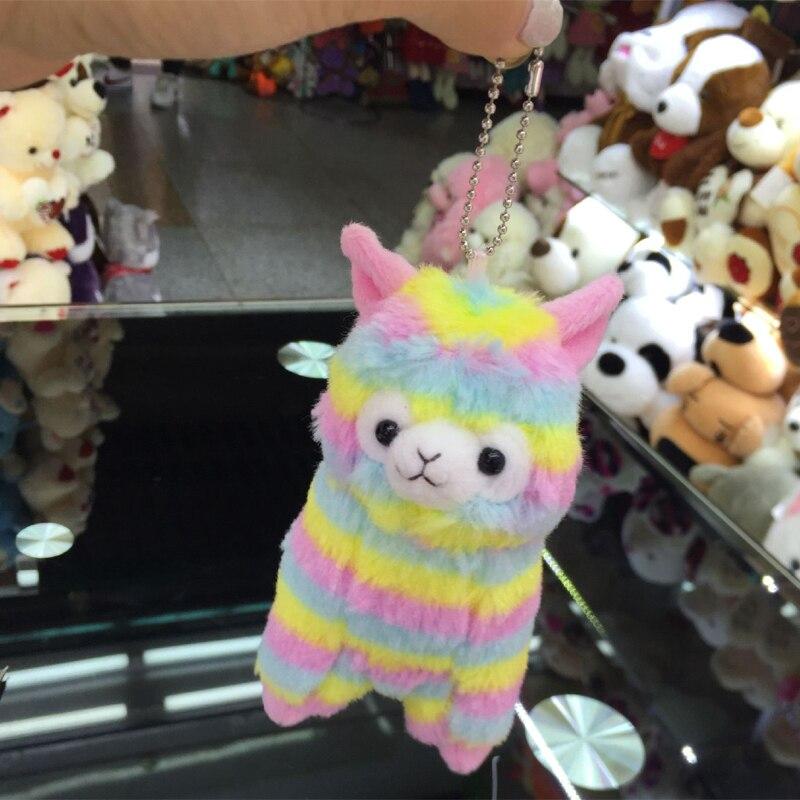8 pcs 13 centímetros Kawaii mini pingente bouquet brinquedos lhamas Japão Arpakasso Alpacasso Alpaca pequeno macio do jogo brinquedo de pelúcia alpaca rainbow Lama